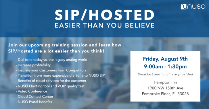 """""""SIP/Hosted – Easier Than You Believe"""" Florida Event Recap"""